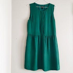 J. Crew emerald green mini tank cocktail dress